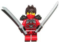 LEGO NINJAGO KAI REBOOTED MINIFIG Authentic Red Ninja Silver Swords Stone Armor #LEGO