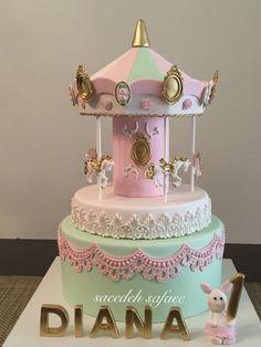 Carousel Cake Carousel Cake Carnival Cakes Birthday pertaining to Carosel Cake - Party Supplies Ideas Carousel Birthday Parties, Cupcake Birthday Cake, Birthday Cake Decorating, Birthday Cake Toppers, Carousel Cake, Carousel Party, Birthday Cake Pinterest, Carnival Cakes, Gateaux Cake