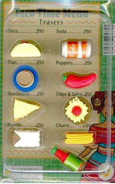 taco time menu erasers - Google Search
