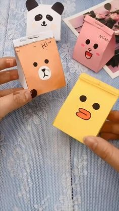 Cool Paper Crafts, Paper Crafts Origami, Diy Crafts For Gifts, Diy Home Crafts, Cute Crafts, Creative Crafts, Crafts For Kids, Kawaii Crafts, Diy Gifts Videos