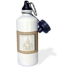 3dRose Spanish Church Scripture in Spanish, Sports Water Bottle, 21oz