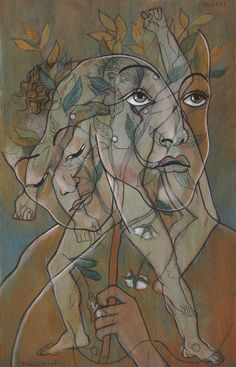 """thunderstruck9: """" Francis Picabia (French, 1879-1953), Ligustri, c.1929. Oil, gouache and brush and black ink over pencil on panel, 151.5 x 96.2 cm. """""""
