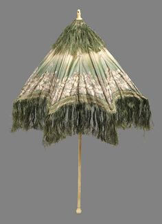 Parasol, Second half 19thc., taffeta and silk fringe