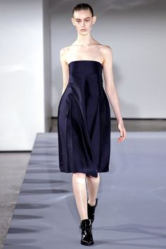 Jil Sander Fall 2013 - bare shoulders