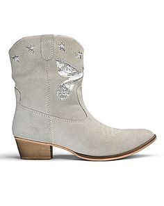 Sole Diva Leather Cowboy Boots E Fit | Simply Be
