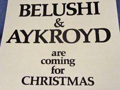 John-BELUSHI-Dan-AYKROYD-Neighbors-VARIETY-POSTER-AD-Folio-Promo-insert81-SNL
