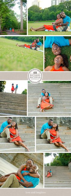 Fun Atlanta Engagement Session at Piedmont Park | Nathan and Natosha Photography www.nathanandnatosha.com