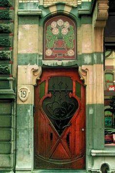 Art nouveau door...