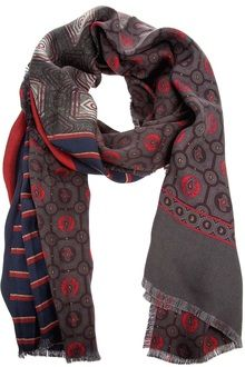 3d9729d71 Pierre Louis Mascia Silk Scarf - Lyst Silk Scarves, Alexander Mcqueen Scarf,  Napoleon,