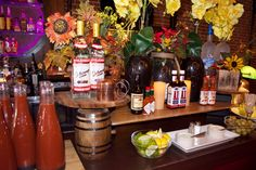 Bloody Mary Bar for Sunday Brunch at ProAbition in Riverside, CA.