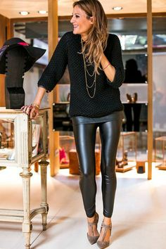 Whether you are dressing up or dressing down these stylish faux leather leggings will complete any look! These leggings featurehigh waist giving you a gorgeou