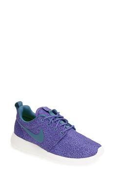 Nike 'Roshe Run' Print Sneaker (Women) available at #Nordstrom Green
