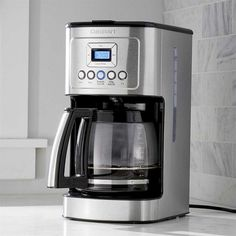 Crate & Barrel Cuisinart ® 14-Cup Perfectemp Programmable Coffee Maker... ($185) ❤ liked on Polyvore featuring home, kitchen & dining, small appliances, programmable coffeemaker, programmable coffee maker, filter coffee maker, crate and barrel and filter coffee machine