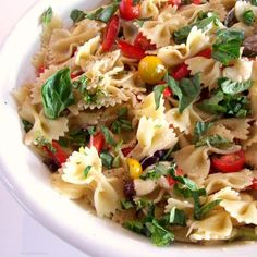 Pasta Provençal with Basil, Sweet Pepper, Tomatoes and Olives ~ perfect for a warm and sultry summer evening!