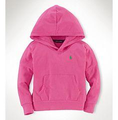 Ralph Lauren Childrenswear Girls' 2T-6X Solid Hoodie at www.elder-beerman.com