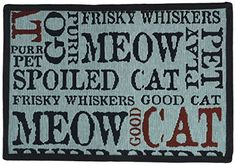 PB PAWS PET COLLECTION BY PARK B SMITH Good Cat Tapestry Indoor Outdoor Pet Mat WoodlandSeaspray 13 x 19 *** Read more  at the image link.