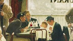 Norman Rockwell Saying Grace oil painting for sale; Select your favorite Norman Rockwell Saying Grace painting on canvas or frame at discount price. Norman Rockwell Prints, Norman Rockwell Paintings, Peintures Norman Rockwell, The Saturdays, Saying Grace, Renoir, Mail Art, Art Auction, Oeuvre D'art