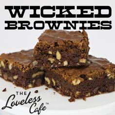 Wicked Brownies will bake up a heap of sinfully-sweet rich chocolate brownies for your loved ones!