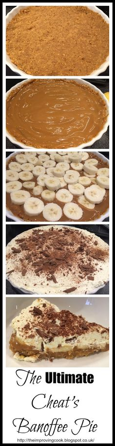 The Improving Cook: The Ultimate Cheat's Banoffee Pie. A no-fuss, easy recipe for banoffee pie.