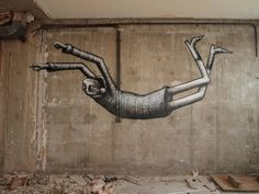 Streetart by Phlegm. Art Manifesto, Sheffield Art, Installation Street Art, Space Artwork, Best Street Art, People Art, Art Challenge, Street Artists, Art Blog