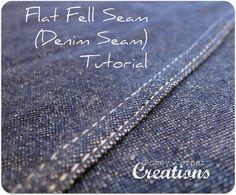 Rosey Corner Creations: Flat Fell Seam (Denim Seam) Tutorial