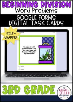 If you're looking for fun division activity for practicing division word problems, the Google Form quiz is right for you! There are 22 digital task cards that quickly access your students.