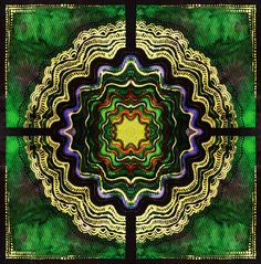 lattice-[P4m]  tropical-bohemian-print overlay