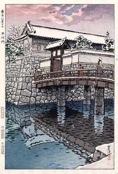 Hirakawa Gate, by Shiro Kasamatsu, 1953