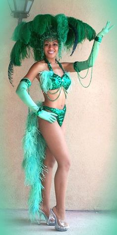 deco green showgirl