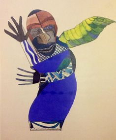 painted collage by Romare Bearden