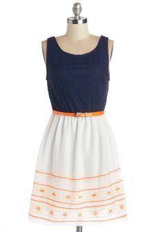 Mix with an Orange Twist Dress | Mod Retro Vintage Dresses | ModCloth.com