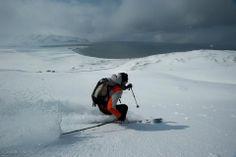 #skiing towards the sea