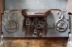 St Bartholomew's church, Tong - misericord (2) by Mike Searle, via Geograph