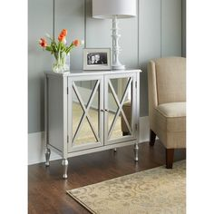 www.target.com p hollywood-mirrored-accent-cabinet - A-14630781