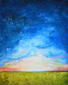 Twilight  ORIGINAL Acrylic Painting  16 x 20 by RuthOosterman