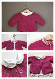 Malha a Malha | Handmade Life: casaco bebé | baby vest