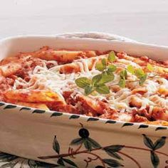 Taste of Home Mostaccioli!