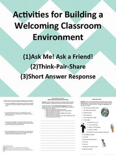 Included are multiple activities for building a welcoming and positive classroom culture. Directions for each activity and writing space are included. Each activity has been made applicable for every subject, grades 8-12. Activities are meant to be used during the first week of school, to build a positive classroom environment right from the year's start!