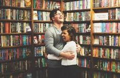 Image result for bookstore engagement photos