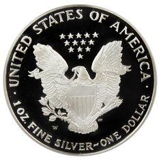 1995 w $1 silver eagle proof   Modern U.S. Coins > $1 American Eagles - Silver 1995-W Silver Eagle $1 ...