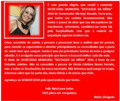 RN POLITICA EM DIA: MENSAGEM DE AGRADECIMENTO DA SECRETÁRIA DE SAÚDE D...