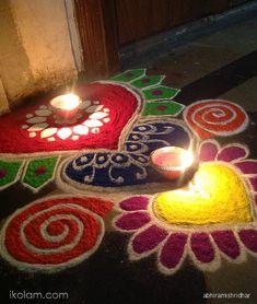 Kolam and Rangoli designs
