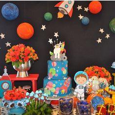 Espaço astronauta festa party space