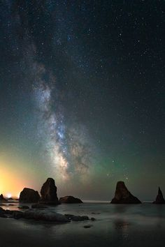 Bandon beach under the Milky Way by kdsphotography [OC] [1200x800]
