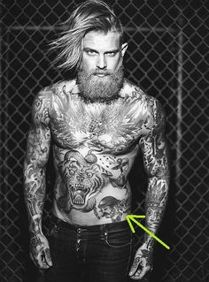 Both have a tattoo of an old timey looking dude w/ hat and mustache. Description from forums.sherdog.com. I searched for this on bing.com/images