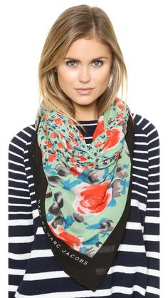 Marc by Marc Jacobs Spliced Jerrie Rose Scarf
