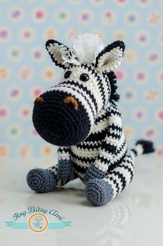 Zabu, The Zebra by ItsyBitsyAmi, crochet amigurumi toy