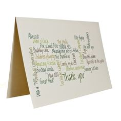 New to weheartcards on Etsy: Personalised Custom Thank you card (9.95 GBP)