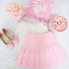 www.sanrense.com - Students sweet candy color pleated skirt