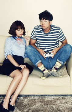 Lee Min Jung and Gong Yoo.